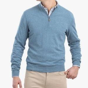Johhnie-O Bailey 1/4 Zip Sweater Size M